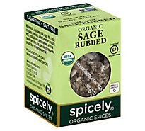 Spicely Organic Spices Rubbed Sage Ecobox - 0.1 Oz
