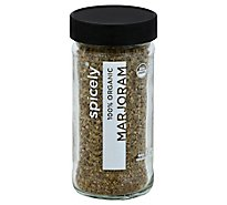 Spicely Organic Spices Marjoram Glass Jar - 0.5 Oz