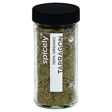 Spicely Organic Spices Tarragon Glass Jar - 0.4 Oz
