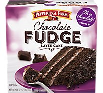 Pepperidge Farm Cake 3 Layer Chocolate Fudge - 19.6 Oz