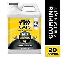 Tidy Cats Cat Litter Clumping 4-in-1 Strength Tub - 20 Lb