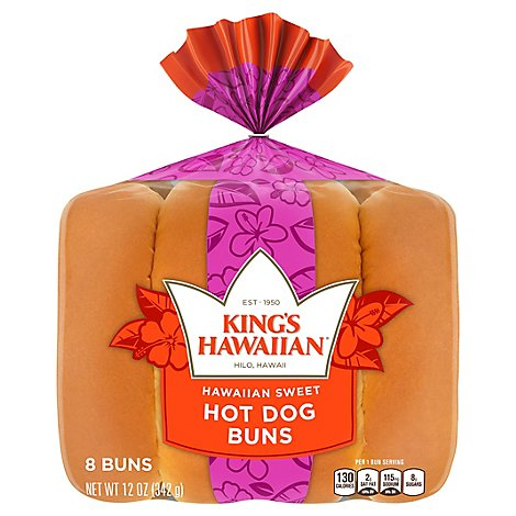 Kings Hawaiian Sweet Hot Dog Buns 12 Oz Albertsons