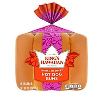 Kings Hawaiian Sweet Hot Dog Buns - 12 Oz.