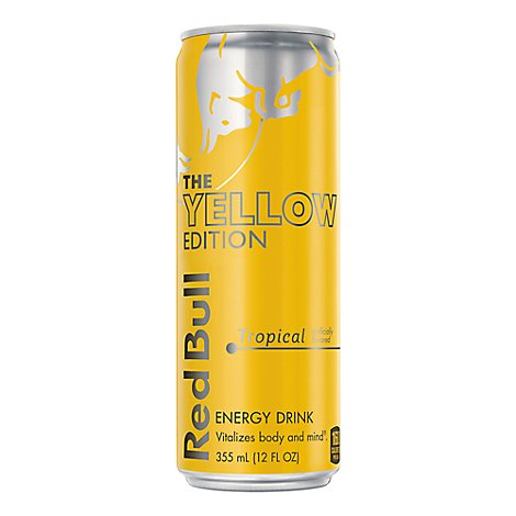 Red Bull Energy Drink The Yellow Edition Tropical Fruits - 12 Fl. Oz.