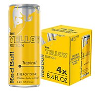 Red Bull Energy Drink The Yellow Edition Tropical Fruits - 4-8.4 Fl. Oz.
