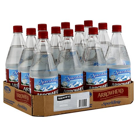 ARROWHEAD Spring Water Mountain Sparkling Plain - 24 Count