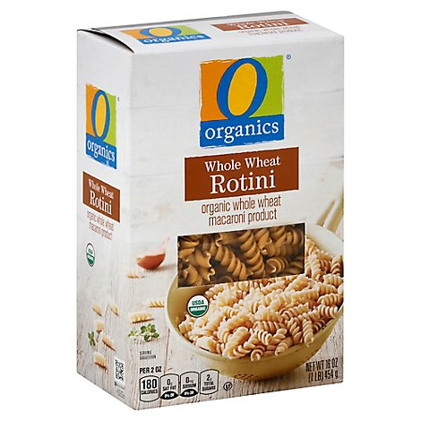 O Organics Organic Macaroni Product Rotini 100 %Whole Wheat - 16 Oz