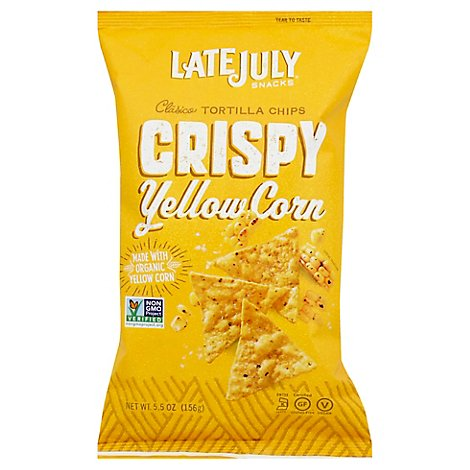 Late July Snacks Tortilla Chips Clasico Yellow Corn Crispy - 5.5 Oz