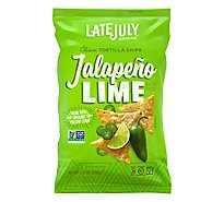 Late July Snacks Tortilla Chips Clasico Yellow Corn Jalapeno Lime - 5.5 Oz