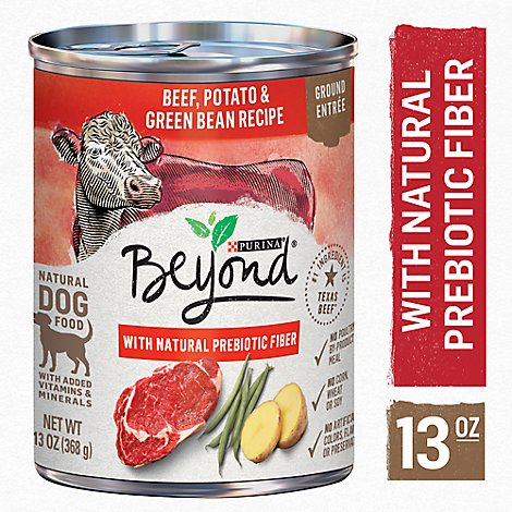 Beyond Dog Food Grain Free Ground Entree Beef Potato & Green Bean Recipe Can - 13 Oz