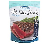 Natural Blue Fish Wild Caught Tuna Ahi Steaks - 12 Oz