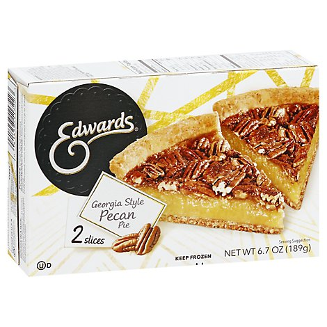 EDWARDS Pie Pecan Georgia 2 Slices Frozen - 6.7 Oz