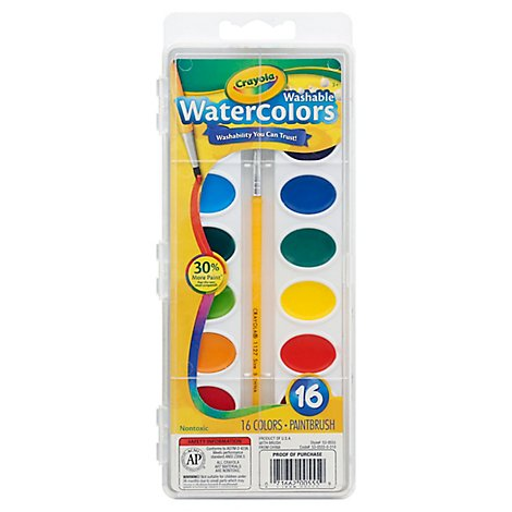 Crayola Watercolors Washable - Each