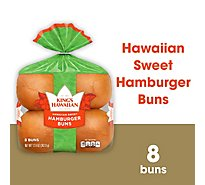 Kings Hawaiian Sweet Hamburger Buns - 8 Count - 12.8 Oz.