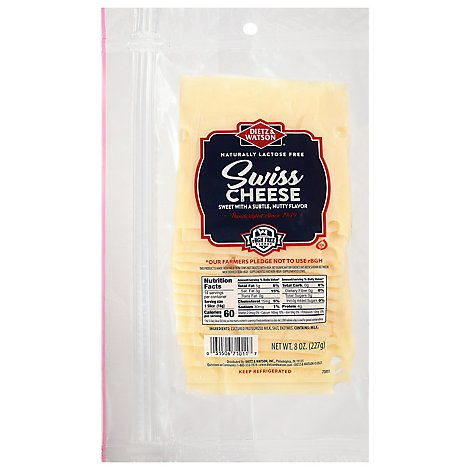 Dietz & Watson Pre-Sliced Swiss Cheese - 8 Oz