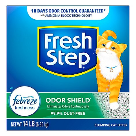 Fresh Step Cat Litter Scoopable Odor Shield Scented Box - 14 Lb