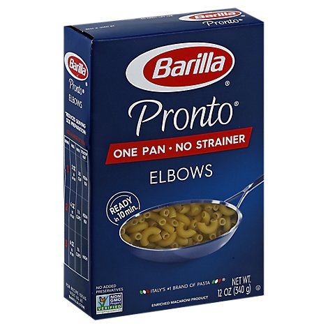 Barilla Pronto Pasta Elbows Box - 12 Oz
