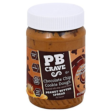 PB Crave Peanut Butter Cookie Nookie with Honey Chocolate Chips Cookie Dough - 16 Oz