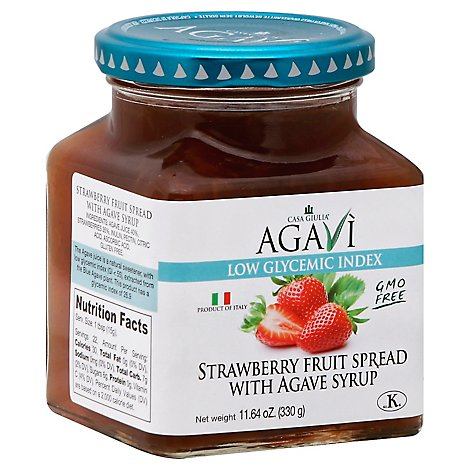 Casa Giulia Fruit Spread Strawberry with Agave Syrup - 11.64 Oz