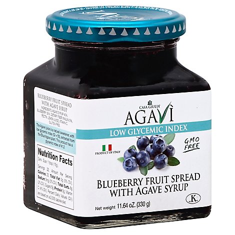 Casa Giulia Fruit Spread Blueberry with Agave Syrup - 11.64 Oz
