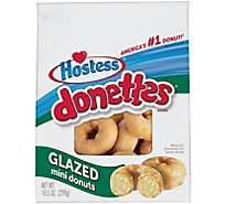 Hostess Donettes Mini Donuts Glazed - 10.5 Oz