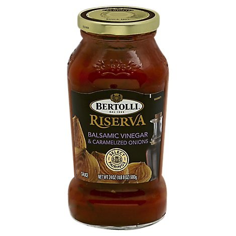 BERTOLLI Pasta Sauce Riserva Balsamic Vinegar Paired with Carmelized Onions Jar - 24 Oz