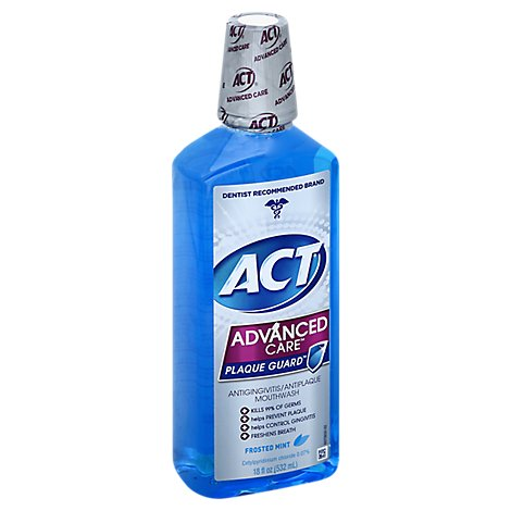 ACT Advanced Care Frosted Mint Mouthwash - 18 Fl. Oz.