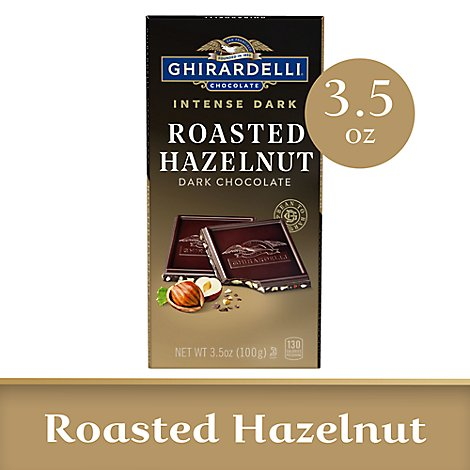 Ghirardelli Intense Dark Chocolate Bar Hazelnut Heaven - 3.5 Oz