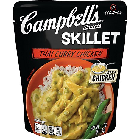 Campbells Sauces Skillet Thai Curry Chicken Pouch - 11 Oz