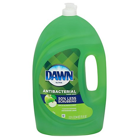 Dawn Ultra Dishwashing Liquid Antibacterial Hand Soap Apple Blossom Scent - 75 Fl. Oz.