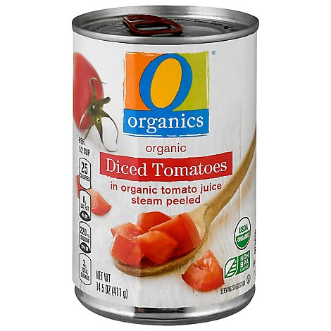 O Organics Organic Tomatoes Diced In Tomato Juice - 14.5 Oz