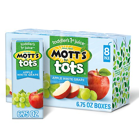 Motts For Tots Apple White Grape Juice - 8-6.75 Fl. Oz.