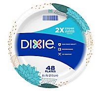 Dixie Everyday Paper Plates Printed 8 1/2 Inch - 48 Count