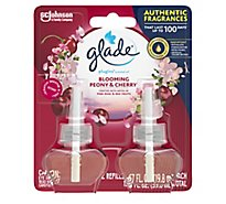 Glade PlugIns Scented Oil Refill Blooming Peony & Cherry Essential Oil Infused Plug In 1.34oz 2ct