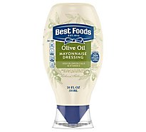 Best Foods Mayonnaise Dressing Olive Oil Squeeze Bottle - 20 Oz
