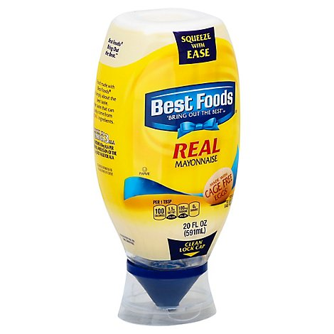 Best Foods Mayonnaise Real Squeeze Bottle - 20 Oz