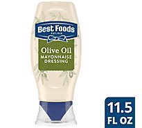 Best Foods Mayonnaise Dressing Olive Oil Squeeze Bottle - 11.5 Oz