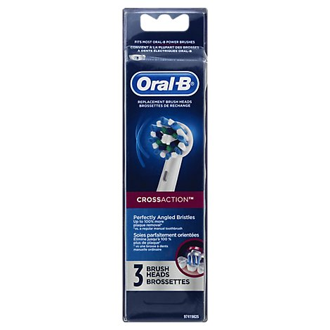 Oral-B Replacement Brush Heads Professional Cross Action - 3 Count