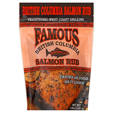 Famous British Columbia Salmon Rub - 3.5 Oz