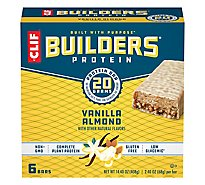 CLIF Builders Protein Bar Vanilla Almond - 6-2.4 Oz