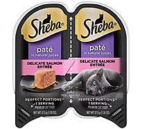SHEBA Perfect Portions Cat Food Pate Premium Delicate Salmon Entree - 2-1.3 Oz