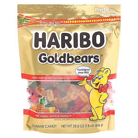 Haribo Gold-Bears Gummi Candy - 28.8 Oz