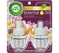 Air Wick Scented Oil Twin Refill Life Scents Summer Delights - 2-0.67 Oz