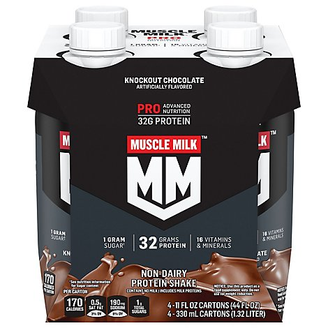 MUSCLE MILK Pro Series Protein Shake Non Dairy Knockout Chocolate - 4-11 Fl. Oz.