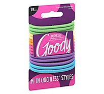 Goody Elastics Ouchless Thick 4mm Neon - 15 Count