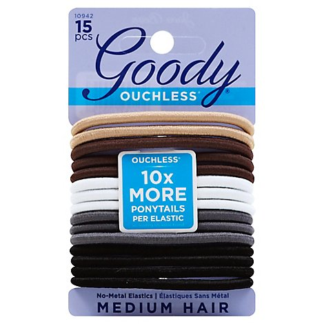 Goody Elastics Ouchless Thick 4mm Java Bean - 15 Count