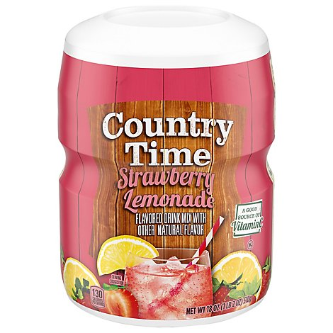 Country Time Drink Mix Strawberry Lemonade - 18 Oz