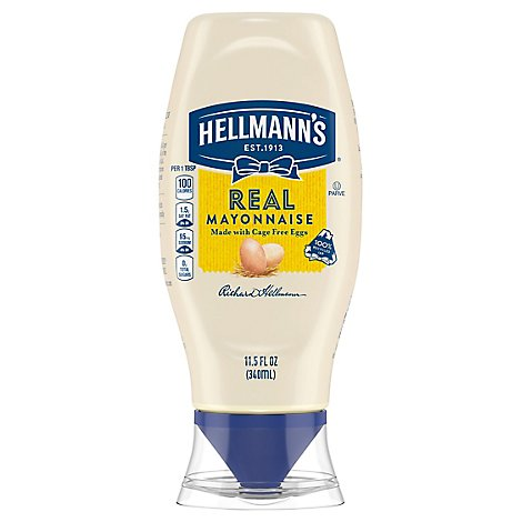 Hellmanns Mayonnaise Real Squeeze Bottle - 11.5 Oz