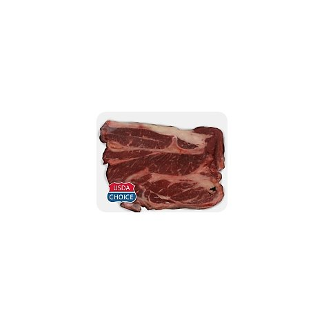 Meat Counter Beef USDA Choice Chuck 7-Bone Steak Thin - 1.50 LB