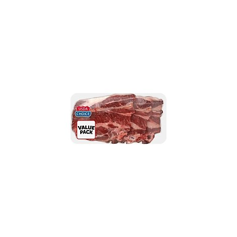 Meat Counter Beef USDA Choice Chuck 7-Bone Steak Thin Value Pack - 2.50 LB